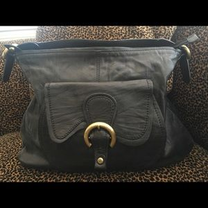 🎀Francesco Biasia Italian black leather handbag…